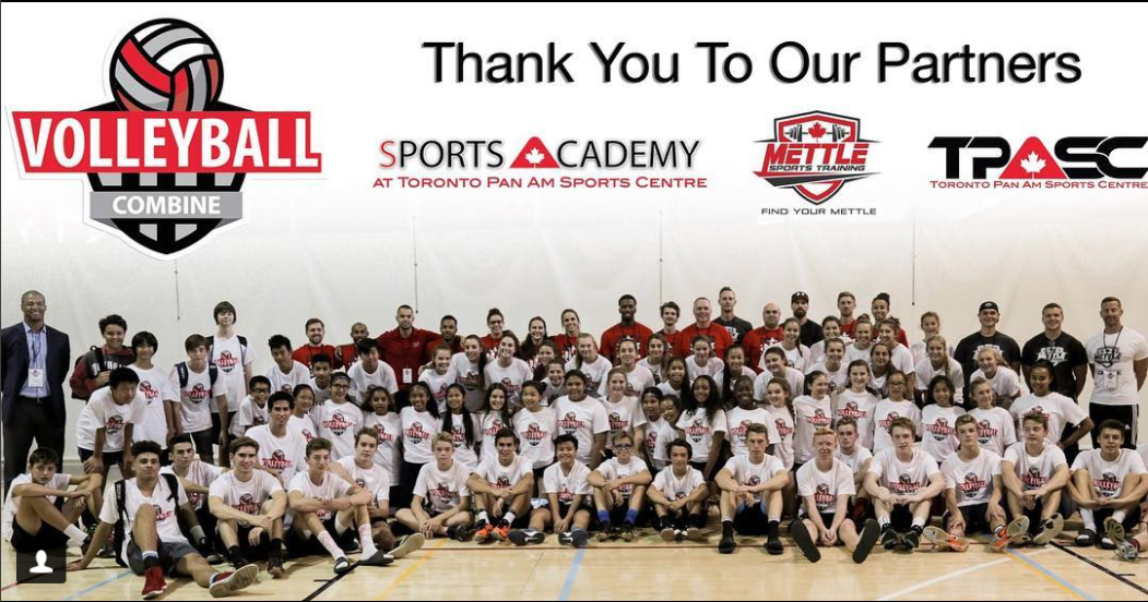 group shot of volleyball combine
